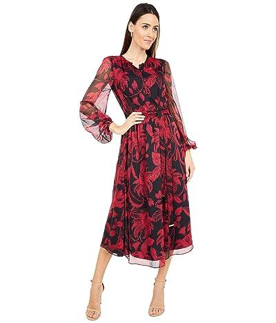 Ted Baker Rococo Button-Down Midi Dress (Black) Women
