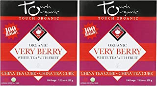 Organic Very Berry White Tea from Touch Organic - 200 Bags Total - Premium Tea Antioxidant Rich and Fruity Blend of Blueberry Raspberry and Blackberry