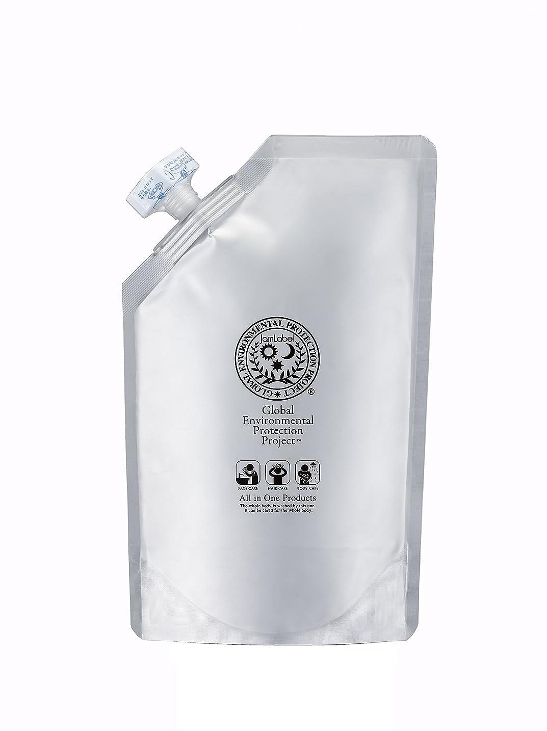 手荷物発見するシンプトンJamlabel 無添加全身用シャンプー ジャムレーベルシャンプー500ml詰替用
