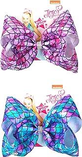 JoJo Siwa 2 Pack Ribbon Hair Bows Mermaid Design