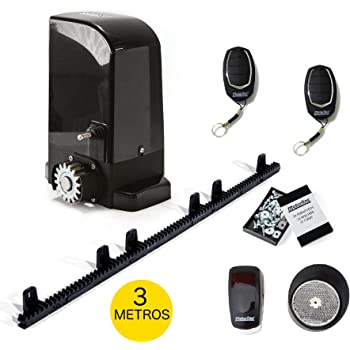 KIT completo profesional Motor puerta corredera VDS SIMPLY para puertas de hasta 600kg + 4 mandos a distancia + fotocélula espejo + 4 mtrs de cremallera de Nylon con tornillos: Amazon.es: Bricolaje y herramientas