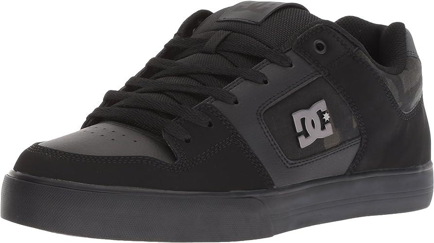 DC - Se Pures Faibletop Chaussures, 42.5, noir Camouflage