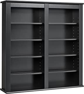 Prepac Double Wall Mounted Storage Cabinet, Black