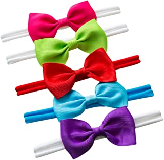 Sweet Valentina Set 5 Bow Headband - Baby headband lace bow - Headband Bow Set