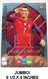 CRISTIANO RONALDO Jumbo XXL Limited Edition Panini 2018 WORLD CUP RUSSIA Adrenalyn XL Soccer Card. 5 1/2 x 4 Inches.