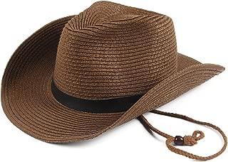 Melesh Soft Foldable Beach Adult Sun Straw Western Cowboy Hat