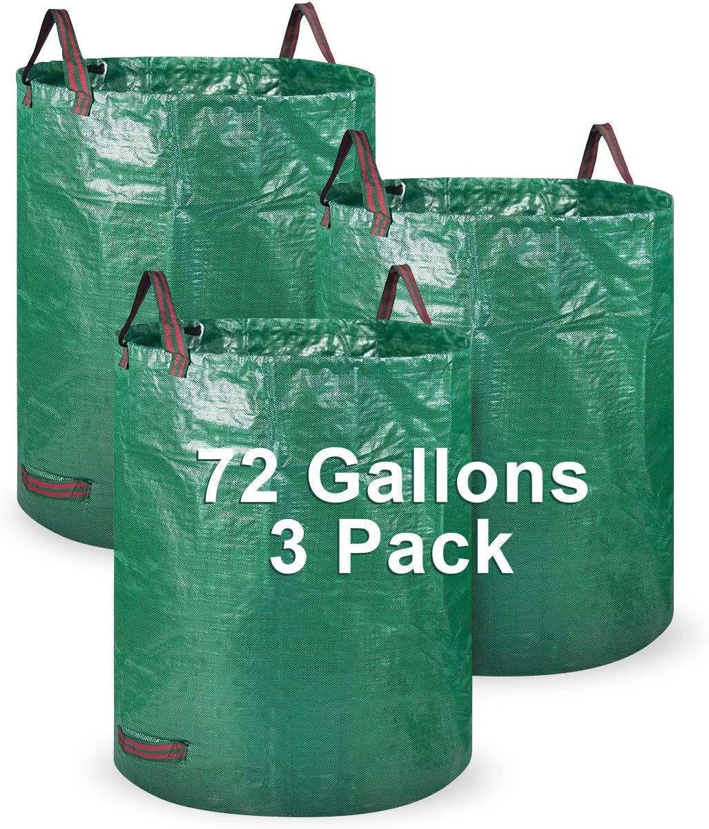 Garden Waste Bag security LAMA 3Pack Excellence Gallons Reusable 72 H Bags