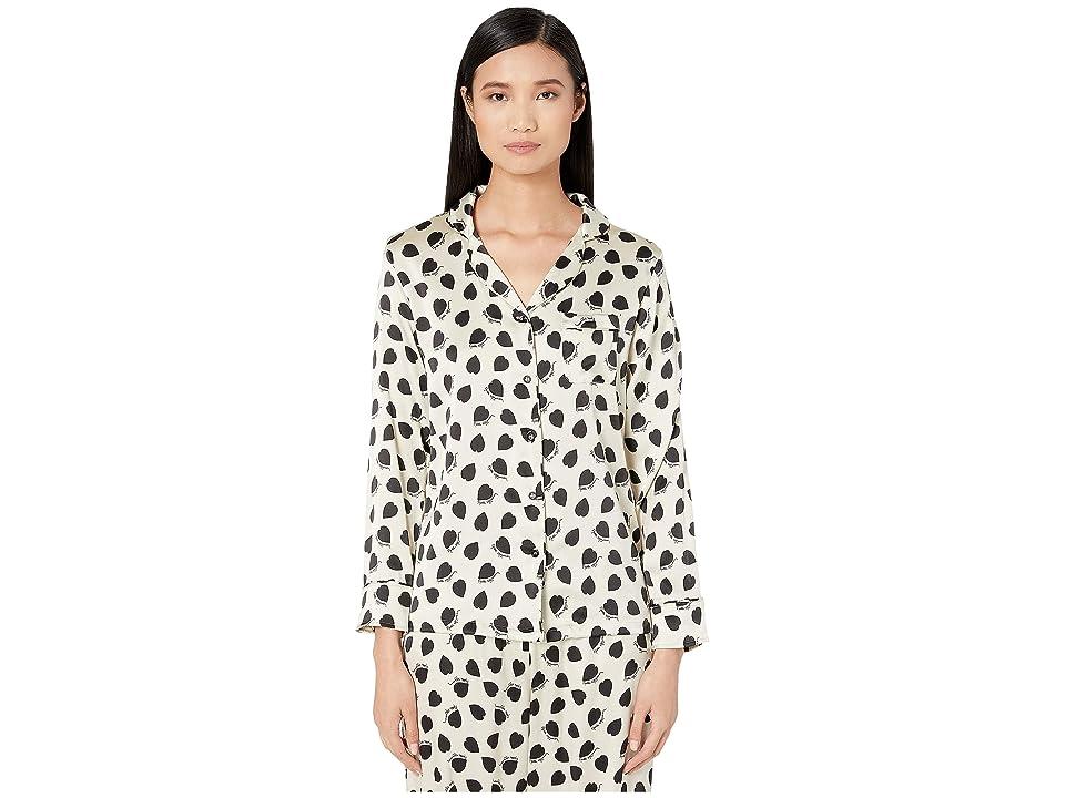 Stella McCartney Betty Twinkling Pajama Shirt (Black) Women