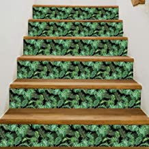 Staircase Wall Sticker,Uotmiki 3D Simulation Stair Waterproof DIY Sticker Home Decoration (C, 18 x100cm)