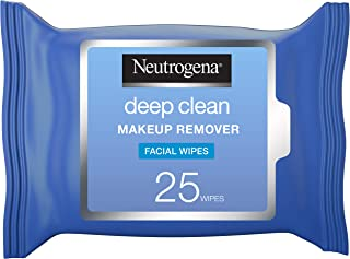 Neutrogena Makeup Remover, Face Wipes, Deep Clean, Pack of 25 wipes