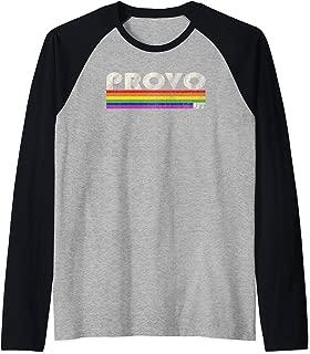 Vintage 80's Style Provo UT Gay Pride Month Raglan Baseball Tee