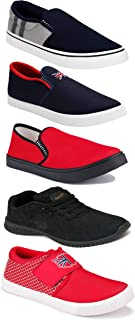 Shoefly Sports Running Shoes/Casual/Sneakers/Loafers Shoes for Men&Boys (Combo-(5)-1219-1221-1140-466-771)