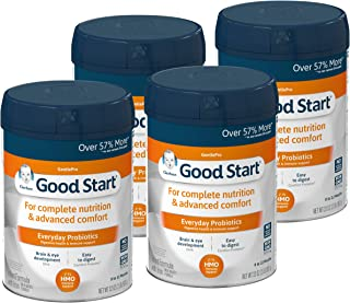 Gerber Good Start GentlePro (HMO) Non-GMO Powder Infant Formula, Stage 1, Gentle Baby Formula with Iron, 2'-FL HMO and Probiotics for Digestive Health and Immune System Support, 32 Ounce (Pack of 4)