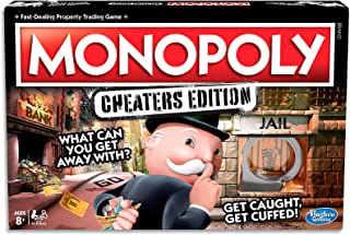 MONOPOLY - Cheaters Edition - Get Caught & Get Cuffed - 2 to 6 Players - Kids & Adult Board Games - Ages 8+