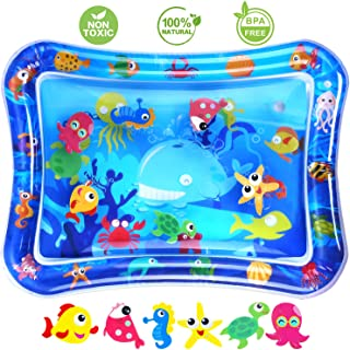 Inflatable Water Play Mat, Tummy Time Water Play Mat Infants, Baby Activity Play Mat, Perfect Baby Toys for 3 6 9 12 Month, Kids' Indoor Climbers & Play Toys