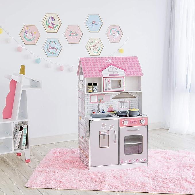 26 opinioni per Teamson Kids 2 in 1 Casa delle Bambole E Cucina da Gioco per Bambini TD-12515P