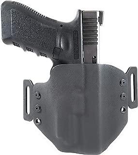 Tru-Fit Tactical OWB Kydex Gun Holster (Black) for OLIGHT PL-Mini 2 Available for 45+ Gun Models