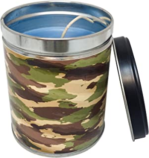 Our Own Candle Company Summer Night Scented Candle in 13 Ounce Tin with a Camouflage Label