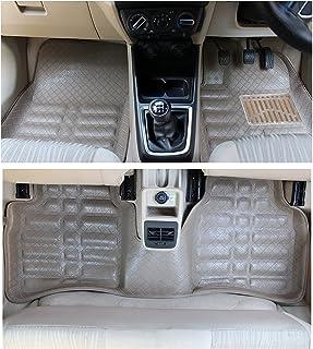 CARTECY Premium Quality Car Tray Mat for Maruti Suzuki Ciaz (Set of 3, Beige)