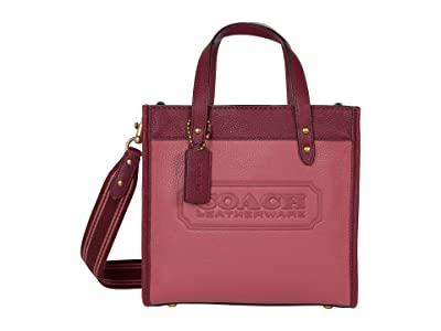 COACH Color-Block Leather Coach Badge Field Tote 22