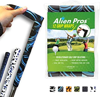 Alien Pros Golf Grip Wrapping Tapes (3/12 Pack) - Innovative Golf Club Grip Solution - Enjoy a Fresh New Grip Feel in Less Than 1 Minute