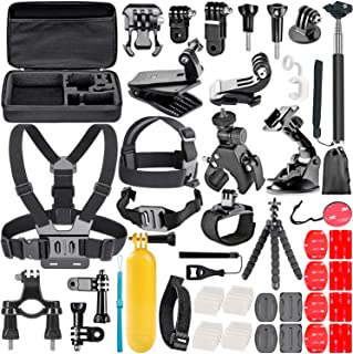 TryAce 58-In-1 Action Camera Accessory Kit for GoPro Hero 7 6 5 4 3 Session, DJI OSMO Action SJ4000/5000, Nikon and Sony S...