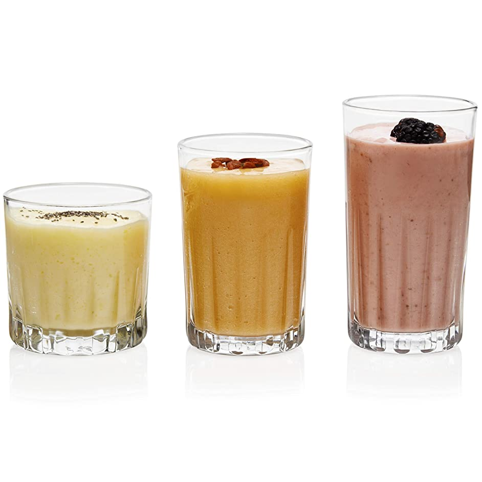 Libbey Brockton 24-Piece Tumbler, Rocks and Juice Glass set