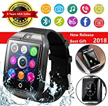 CNPGD [U.S. Warranty] Multi-function Smartwatch + Watch Cell Phone Black for iPhone, Android, Samsung, Galaxy Note, Nexus, HTC, Sony