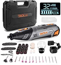 TACKLIFE 12V Cordless Rotary Tool, LCD Display with Accurate Speed Control, Ideal for Cutting, Grinding, Sanding, and Poli...