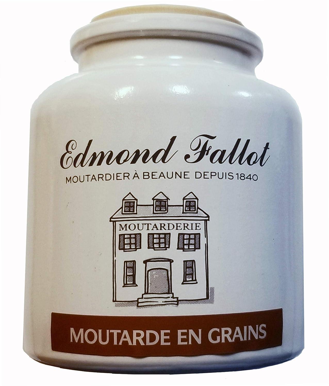 Edmond Fallot Whole Grain Mustard Crock 2 Fees free!! Omaha Mall Moutarde Grai Pack en