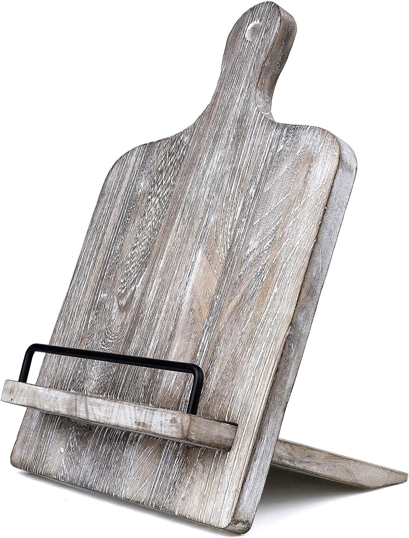 Cookbook Stand, Cutting Board Style Wood Recipe Holder Recipe Bo