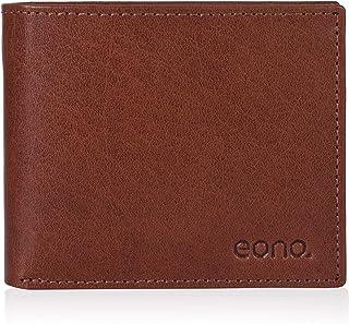 Amazon Brand - Eono - Cartera de Cuero para Mujer y Hombre con diseño Plano y protección contra Lectura RFID (marrón Vinta...