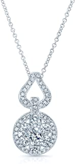 Diamond Equestrian-inspired Pendant Necklace In 14k White Gold, 18 Inches