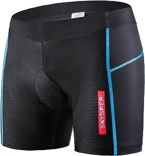 SKYSPER Cycling Shorts Men Padded Gel Bike Underwear Cycle Pants Bicycle MTB Undershorts Breathable Comfortable Anti-Slip ...