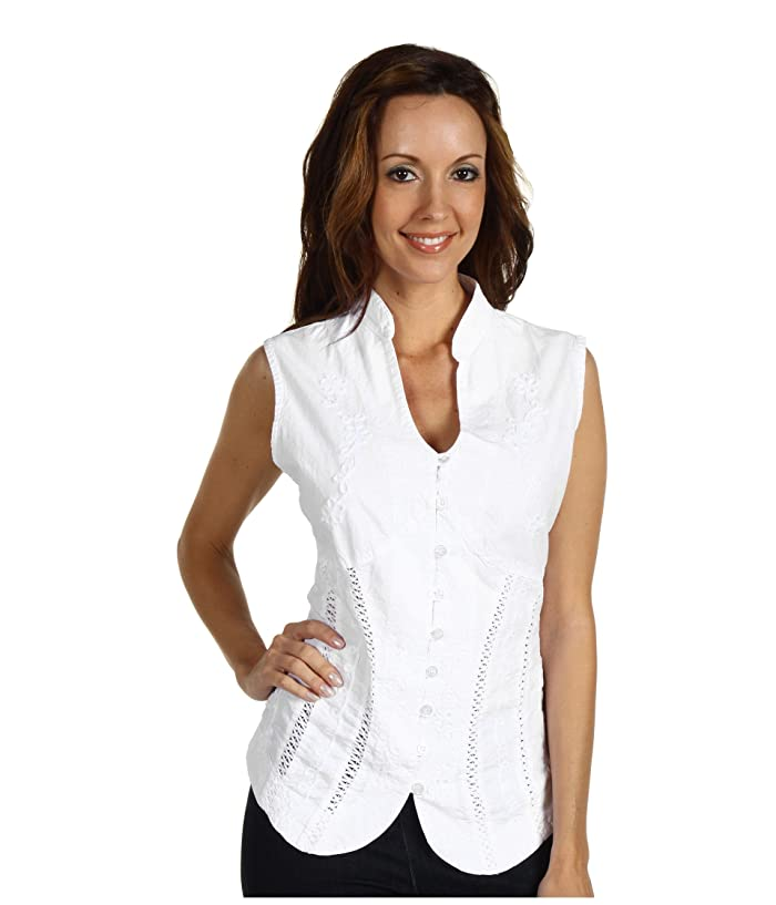 Scully  Cantina Beautifully Detailed S/L Blouse (White) Womens Blouse
