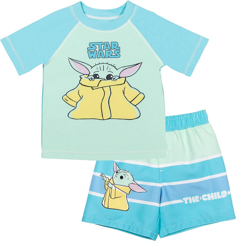 STAR WARS The Mandalorian The Child Baby Boys Short Sleeve Rash Guard Set: Clothing, Shoes & Jewelry