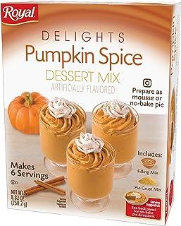 Sponsored Ad - Royal Delights Dessert Mix, Pumpkin Spice with Graham Cracker Crumbs, 9.16 OZ, 6 CT (Pack - 6)