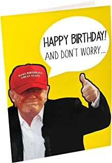 Funny gag singing Donald Trump Sound Birthday Card – Donald Trump Sings Happy Birthday when Card is Opened – Includes 15 seconds of Trump's voice – Create Big Laughs – Trump Gift – Hilarious Novelty