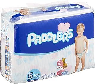 Paddlers Junior 5 Beden 112 Adet (11-25 Kg) Aylık Paket Bebek Bezi, Beyaz
