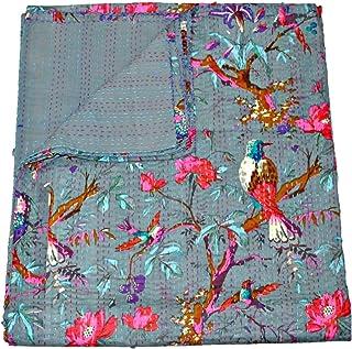 Copriletto Etnico con Motivo Cachemire Tribal Asian Textiles 19 Dimensioni: 228 x 274 cm Motivo Stampato: Paradiso
