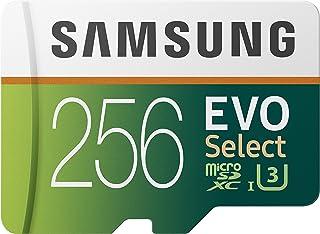 Samsung EVO Select 256 GB microSD 100 MB/s, Velocidad, Full HD & 4K UHD, Tarjeta de Memoria Incluye Adaptador SD para Smar...
