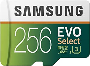 Samsung EVO Select 256 GB microSD 100MB/s, Geschwindigkeit, Full HD & 4K UHD..
