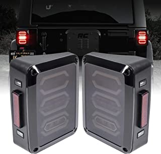 Smoked Lens LED Tail Light [Hexagon Design] [288 LEDs] [Plug n Play] for 2007-2018 Jeep Wrangler JK & Unlimited - Pair