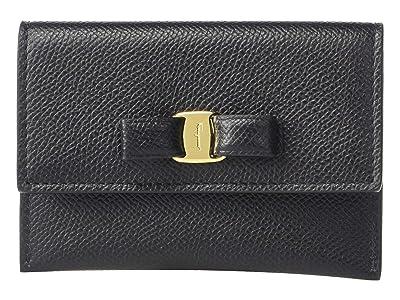 Salvatore Ferragamo Vara Bow Card Case (Nero) Handbags