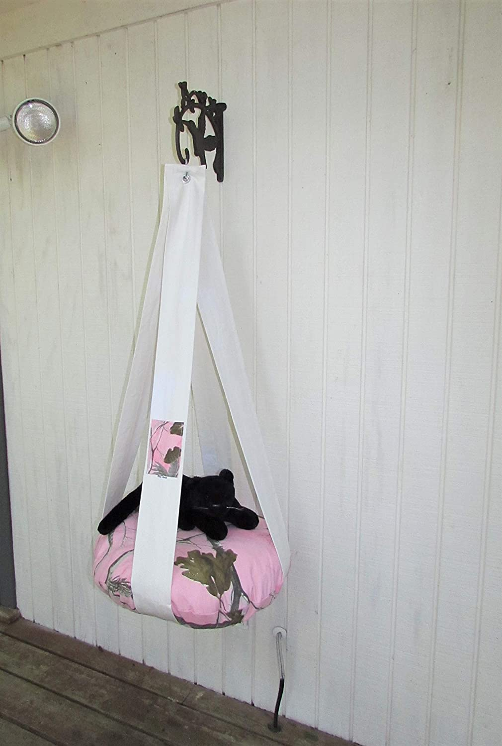 Cat High order Bed Realtree Pink Camo Kitty Special price for a limited time Single Cloud Hanging