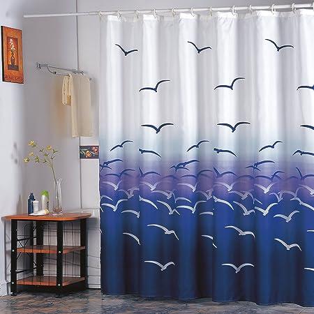 """mit 12 Duschvorhangringen waschbar Anti-Bakteriell MSV Premium Anti-Schimmel Textil Duschvorhang 100/% wasserdicht /""""Sugar/"""" Gr/ün 180x200cm Polyester"""