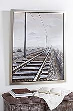 Deco 79 CANVAS WALL ART, Oversized, Grey