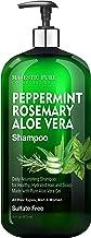 Sponsored Ad - MAJESTIC PURE Peppermint Rosemary Aloe Vera Shampoo - Restorative & Nourishing , Sulfate Free, Daily Shampo...