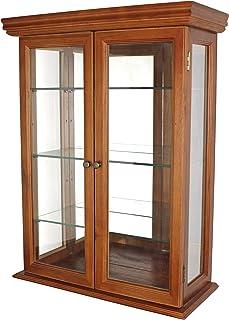 Design Toscano Country Tuscan Hardwood Wall Curio Cabinet: Walnut Finish