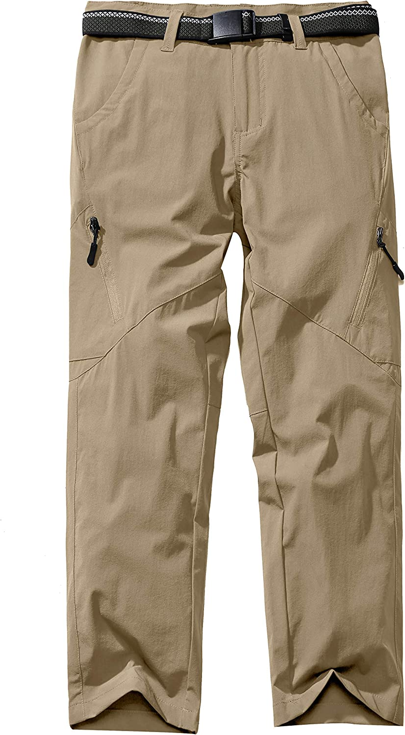 Asfixiado Boys Cargo Pants Kids Youth Girls Outdoor Quick Dry Hiking Convertible Trousers